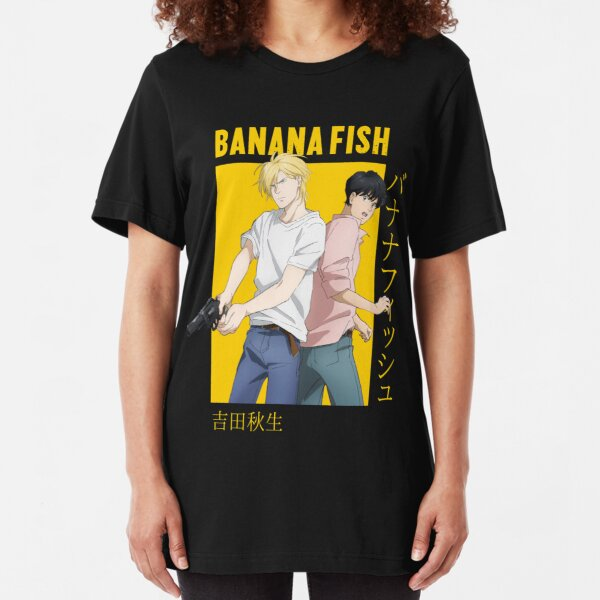 Banana Fish Ash Lynx Eiji Okumura Card Anime Slim Fit T-Shirt
