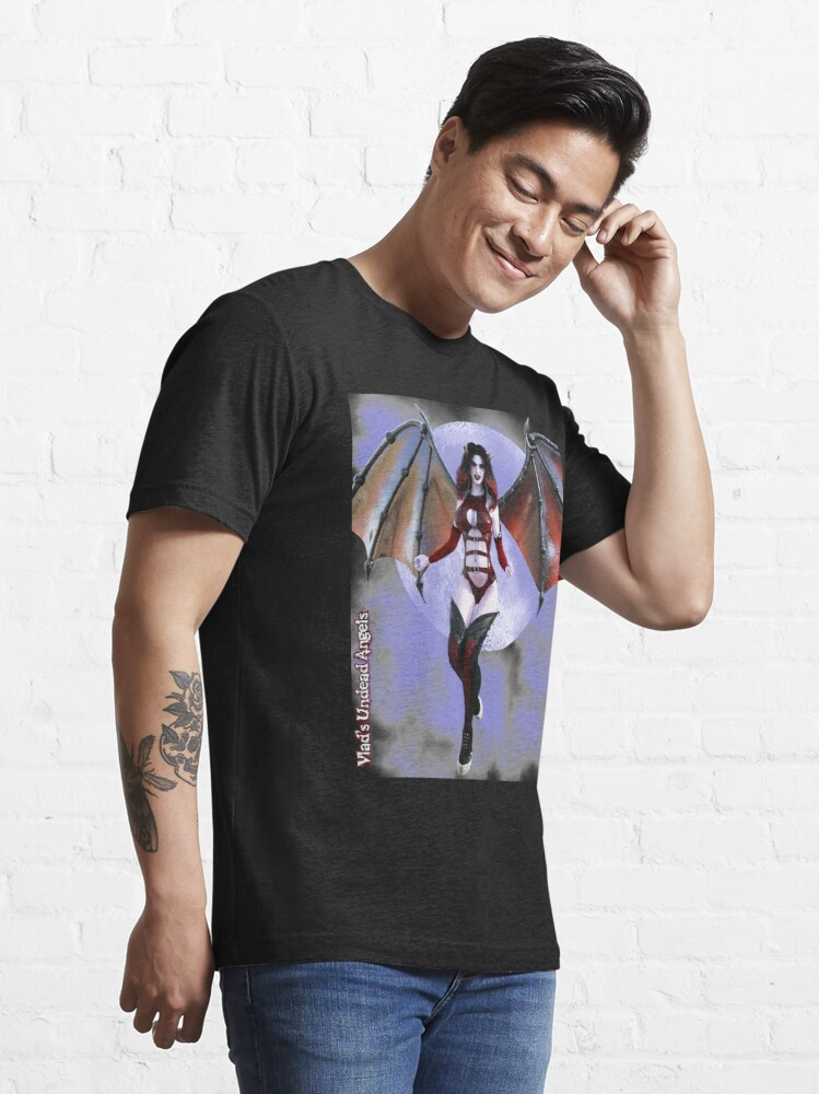 Alternate view of Undead Angels By Moonlight: Vampiress Eve Essential T-Shirt