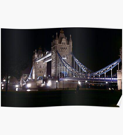 Tower Bridge at Night Poster