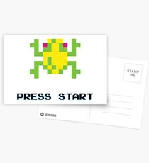 FROGGER RETRO PRESS START ARCADE TSHIRT Postcards