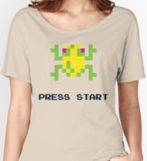 FROGGER RETRO PRESS START ARCADE TSHIRT Women's Relaxed Fit T-Shirt