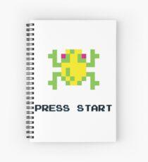 FROGGER RETRO PRESS START ARCADE TSHIRT Spiral Notebook