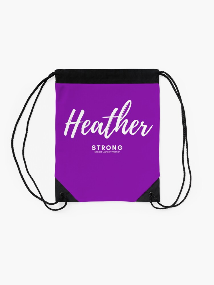 Alternate view of Heather Strong - Light Version Drawstring Bag