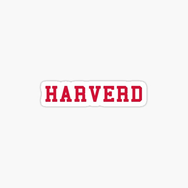 HARVERD (red letters) Sticker