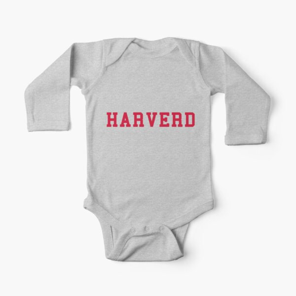 HARVERD (red letters) Long Sleeve Baby One-Piece