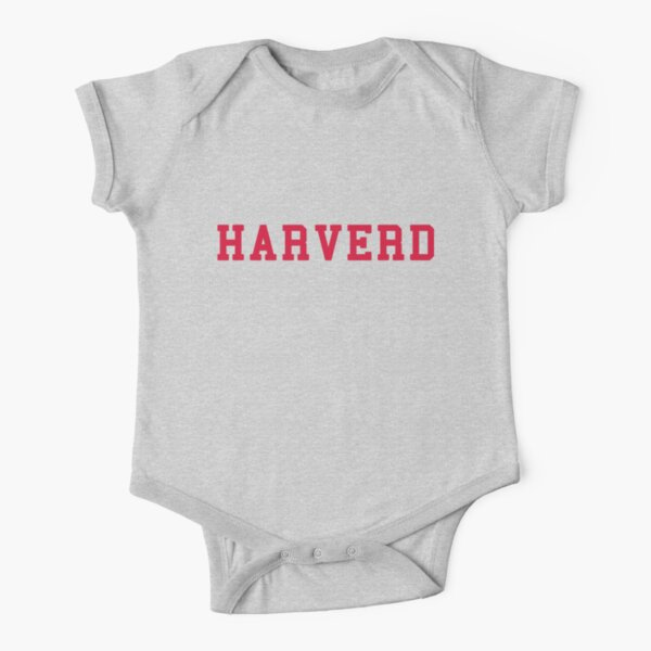 HARVERD (red letters) Short Sleeve Baby One-Piece