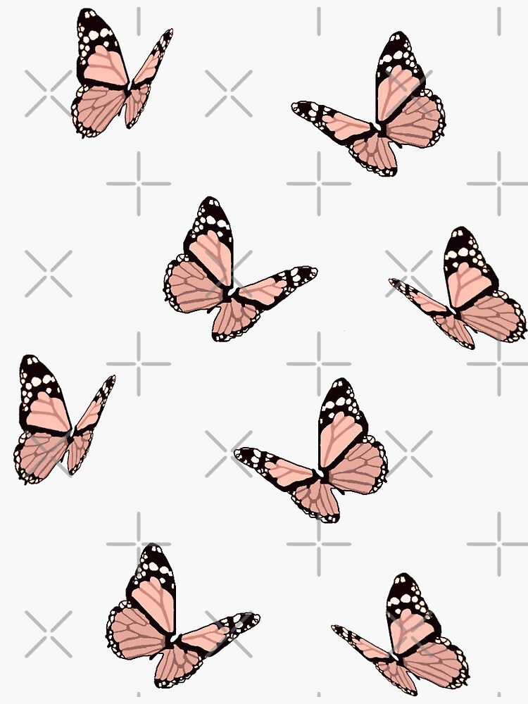 Peach Butterflies by maiaswamy