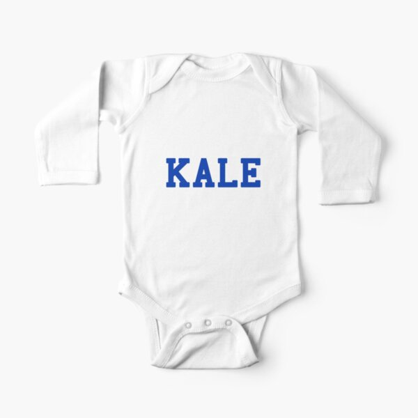 KALE (blue lettering) Long Sleeve Baby One-Piece