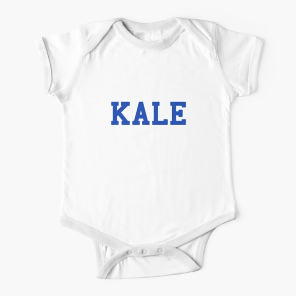 KALE (blue lettering) Short Sleeve Baby One-Piece