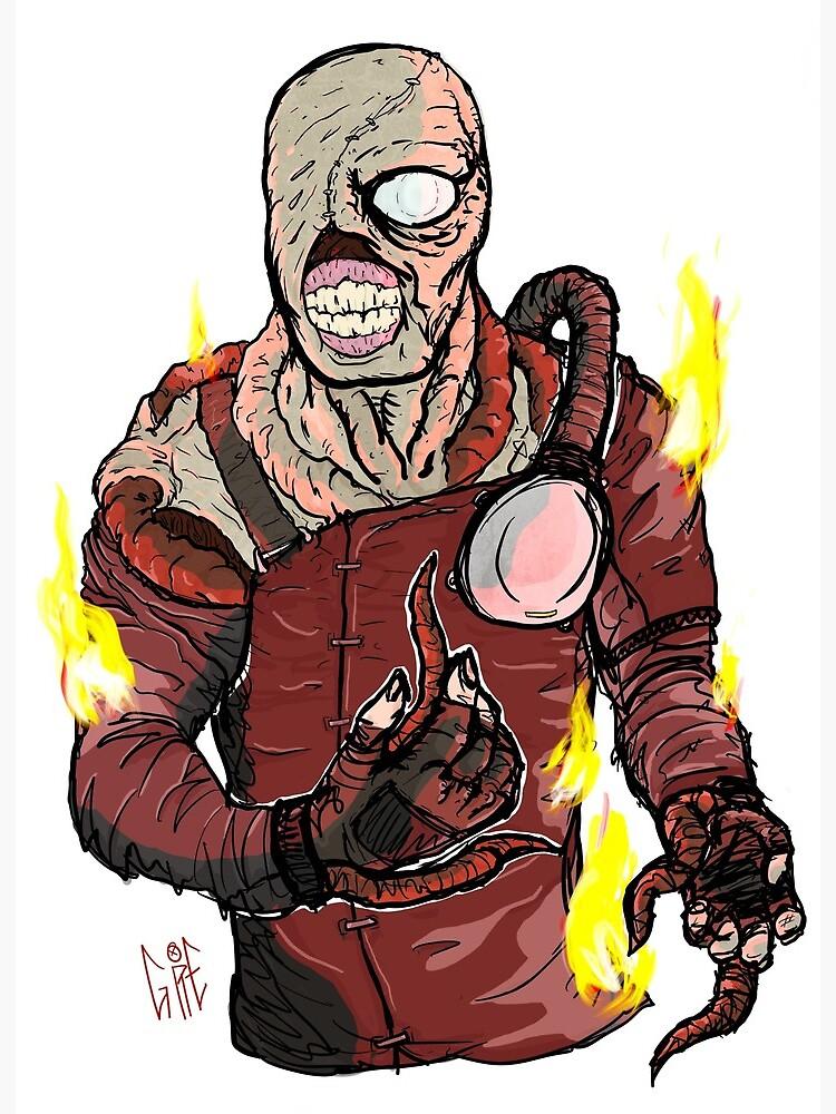 Resident Evil 3 Nemesis Art Board Print By Gorebag Redbubble