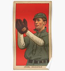 Benjamin K Edwards Collection Monte Cross Indianapolis Team baseball card portrait Poster
