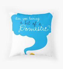 Bit of a Domestic Throw Pillow