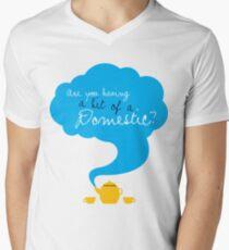 Bit of a Domestic Men's V-Neck T-Shirt