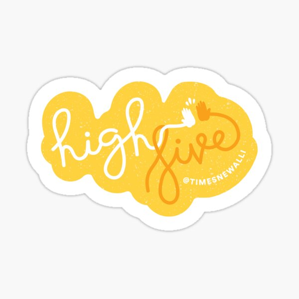 High Five! Sticker