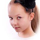 Portrait of  a girl in black hat by torishaa