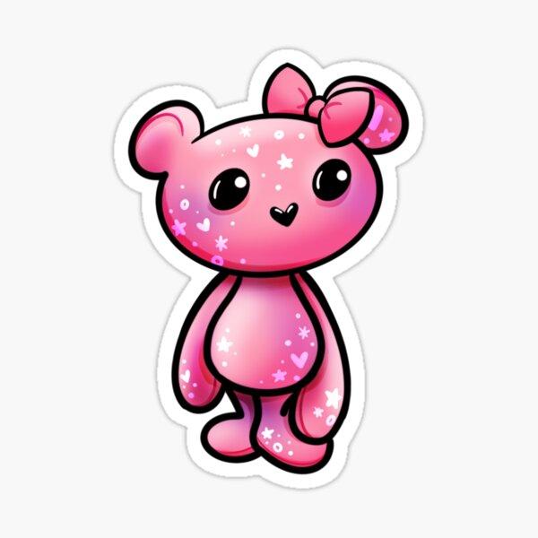 Meg the Pink Galaxy Bear Sticker