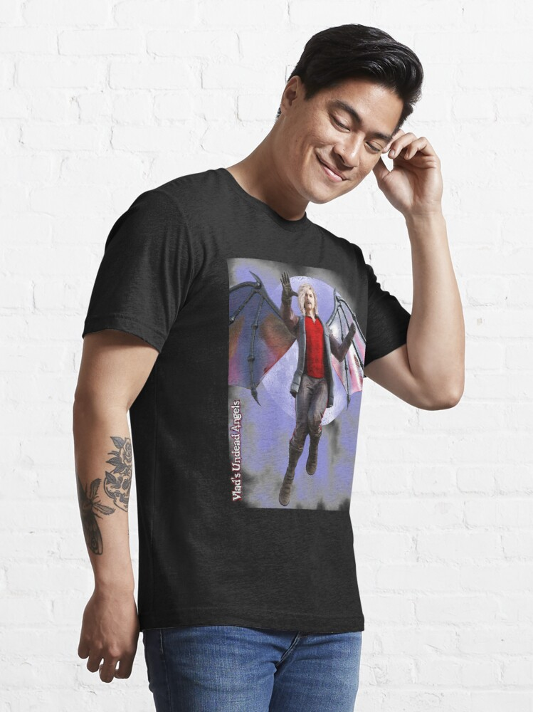 Alternate view of Undead Angels By Moonlight: Vampire Lord Essential T-Shirt