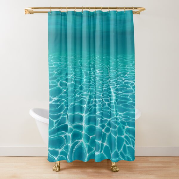 Sunlit Seabed Shower Curtain