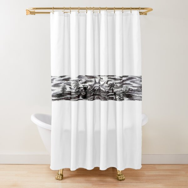 """001. """"Untitled""""  Shower Curtain"""
