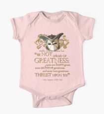 Shakespeare Twelfth Night Greatness Quote Kids Clothes