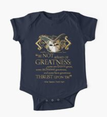 Shakespeare Twelfth Night Greatness Quote One Piece - Short Sleeve