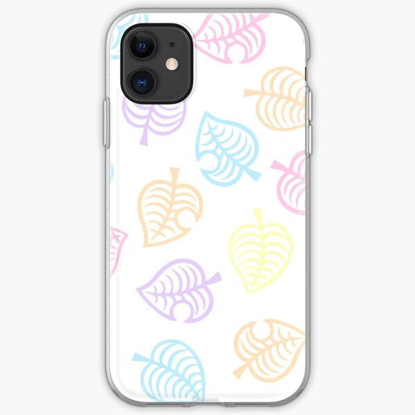Nook Pastel Leaf Pattern - Animal Crossing New Horizons  iPhone Soft Case