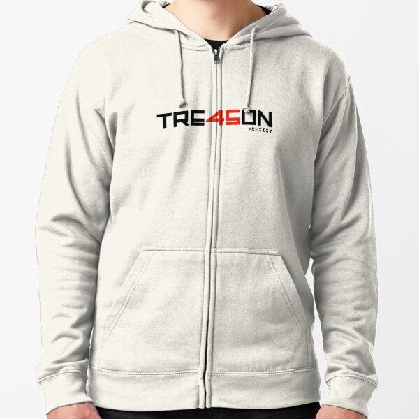TRE45ON (TREASON) Zipped Hoodie