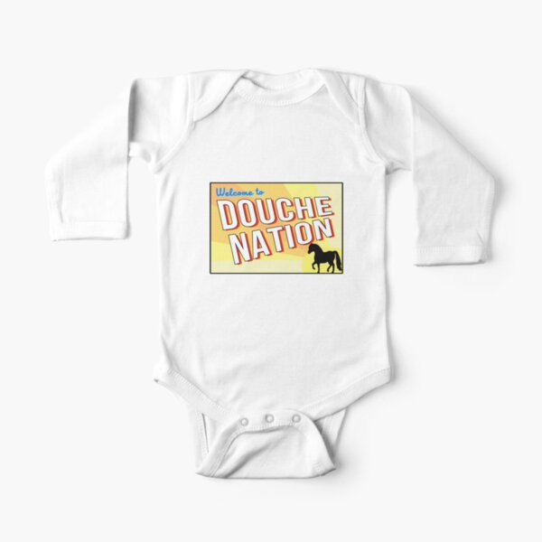 Welcome To Douche Nation Long Sleeve Baby One-Piece