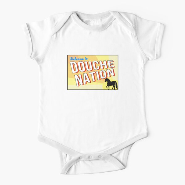 Welcome To Douche Nation Short Sleeve Baby One-Piece