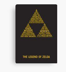Lienzo Tipografía Legend of Zelda