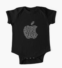 Apple Typography One Piece - Short Sleeve