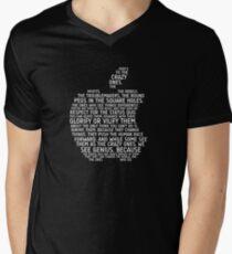 Apple Typography Men's V-Neck T-Shirt