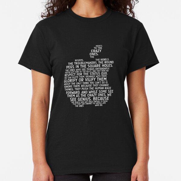 Apple Typography Classic T-Shirt