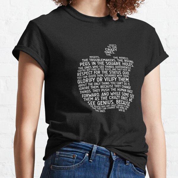 Tipografía de manzana Camiseta clásica