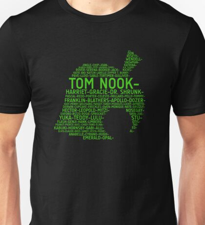 Animal Crossing Typography Unisex T-Shirt