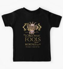 Shakespeare Midsummer Night's Dream Fools Quote Kids Tee