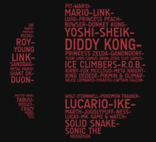 Super Smash Bros. Typography | Unisex T-Shirt