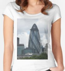 The Gherkin Women's Fitted Scoop T-Shirt