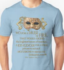 Shakespeare Henry V Muse Quote Unisex T-Shirt