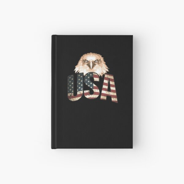 USA American Flag Eagle, Patriotic 4th of July America Hardcover Journal
