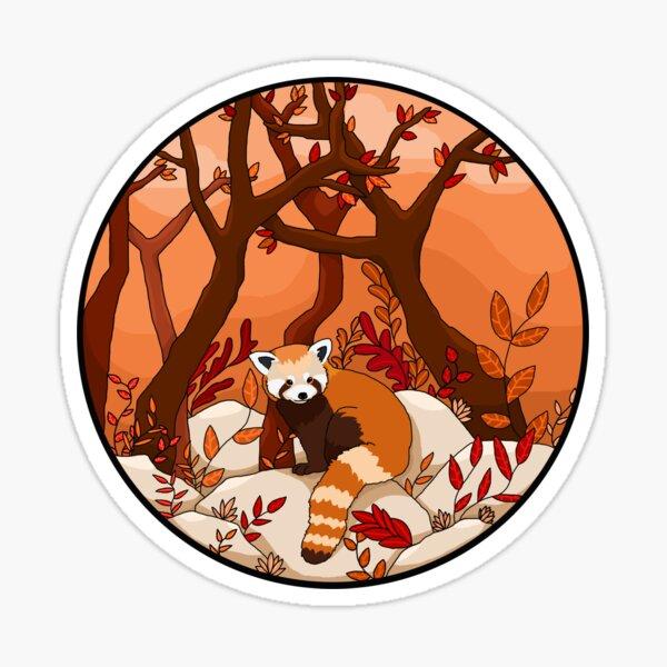 Ein kleiner roter Panda Sticker