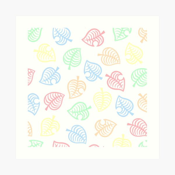 Nook Pastel Leaf Pattern Animal Crossing New Horizons Art