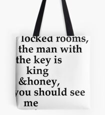the man with the key Tote Bag