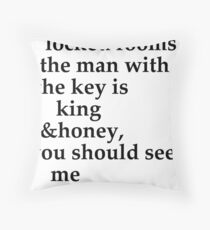 the man with the key Throw Pillow