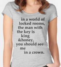 the man with the key Women's Fitted Scoop T-Shirt