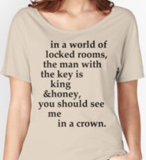 the man with the key Women's Relaxed Fit T-Shirt