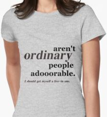ordinary people Women's Fitted T-Shirt