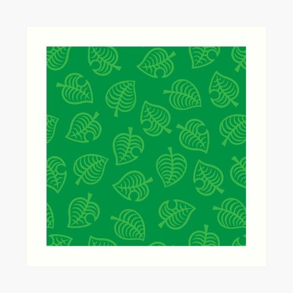 Nook Black Grey Leaf Pattern Animal Crossing New Horizons Art