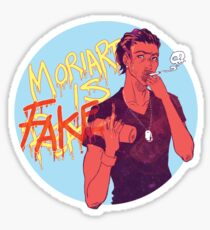 Moriarty was FAKE Sticker