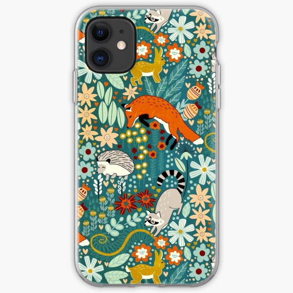 Textured Woodland Pattern  iPhone Soft Case